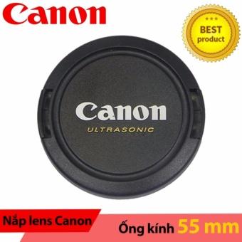 Nắp ống kính Lens cap Canon ultrasonic 55mm