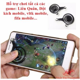 Nút điều khiển chơi Game online mobile Joystick - bộ 2 tay trái phải (đen)