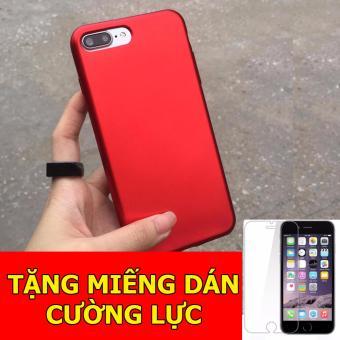 Ốp dẻo đỏ dành cho iPhone6/ 6s + Tặng 01 miếng dán cường lực
