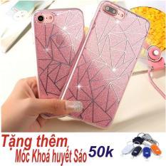 Ốp Lưng Dẻo Kim Tuyến Thời Trang Dành Cho iPhone 6Plus/6sPlus (Màu hồng) + Tặng Móc Khoá Huyết Sáo Thông Minh