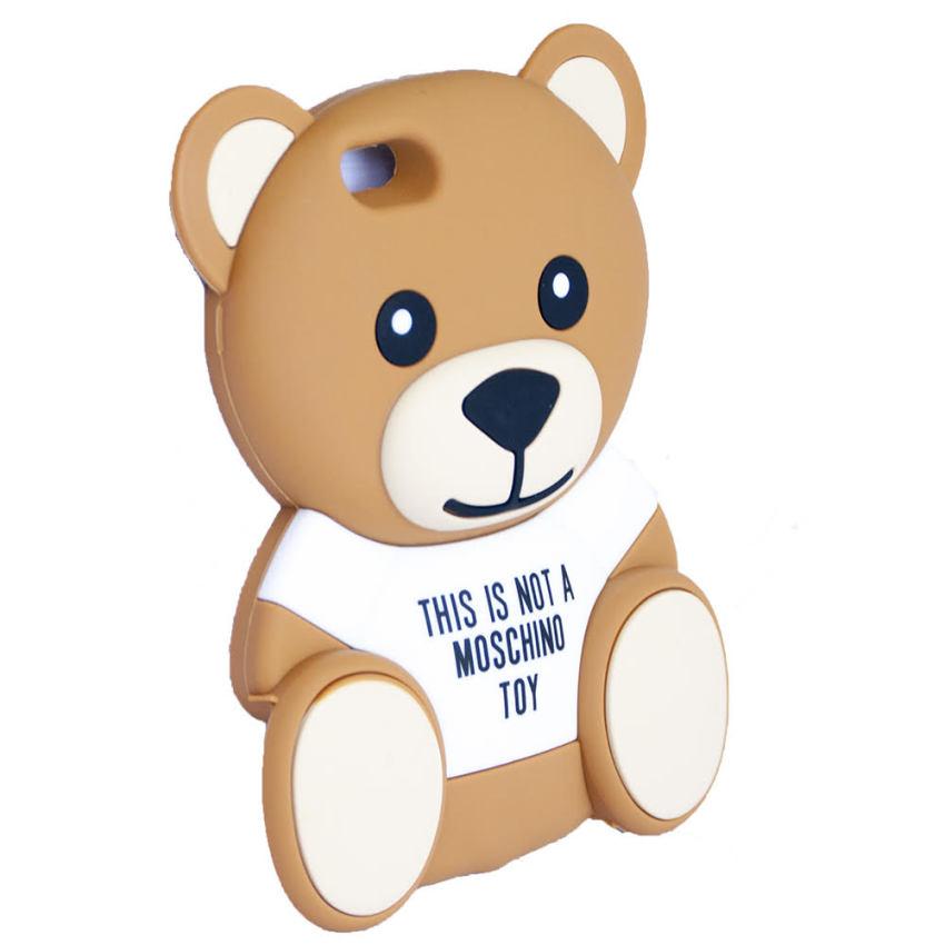 Hình ảnh Ốp lưng điện thoại cho Iphone 5 và 5s hình gấu teddy dễ thươngH13-NÂU