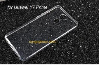 Ốp lưng Silicon cao cấp cho Huawei Y7 Prime (Trắng Trong)
