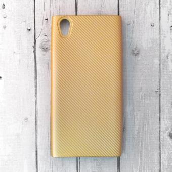 Ốp lưng Sony Xperia L1 nhựa cứng vân Carbon (Vàng)