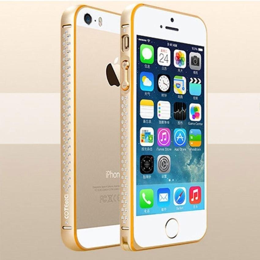 Hình ảnh Ốp viền Iphone 5/5S/SE - COTEETCI (Vàng)