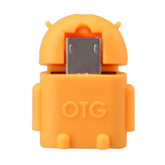 OTG Adapter Connector for Mobile Phone to USB Flash Disk Tablet PCOrange (Intl)