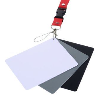 Photography Reference 18% Grey Card Set for Manual White Balance -intl - 2