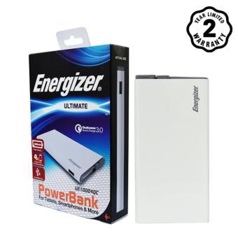 Pin sạc dự phòng Energizer 10000mAh Li-Po QC3.0 2 Output - UE10004QC