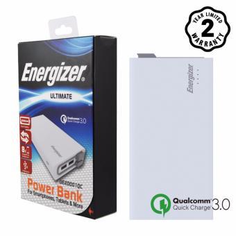 Pin sạc dự phòng Energizer 20000mAh Li-Po QC 3.0 3 Output (Trắng)