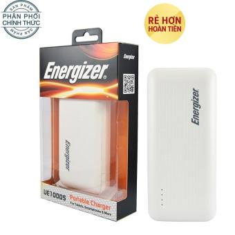 Pin sạc dự phòng Energizer UE10005 10.000mAh (Trắng) - Hãng phân phối chính thức