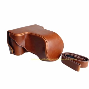 PU Leather Camera Bag Case For Fujifilm Fuji X-A10 XA10 With Strap- intl
