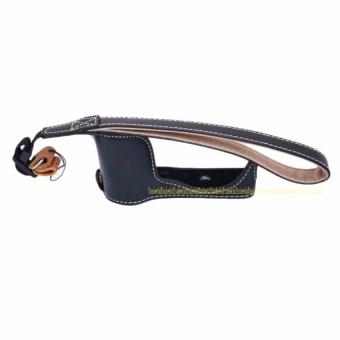 PU Leather Camera Bottom Case Cover Half Body Set Bag For SonyA5100- intl