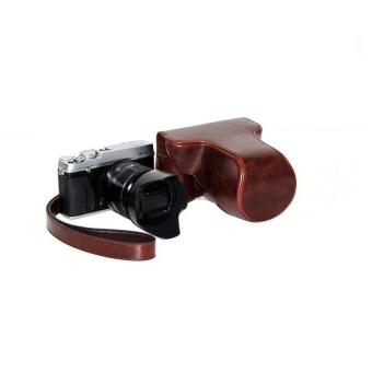 PU Leather Camera Case Bag Cover for Fujifilm X-E1 X-E2 Coffee -intl
