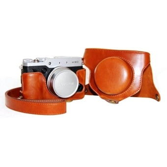 PU Leather Camera Case Bag Cover for Fujifilm X30Brown(CameraNotIncluded)  - intl