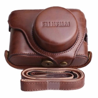 Pu Leather Camera Case Bag for Fuji X100T With Strap - intl