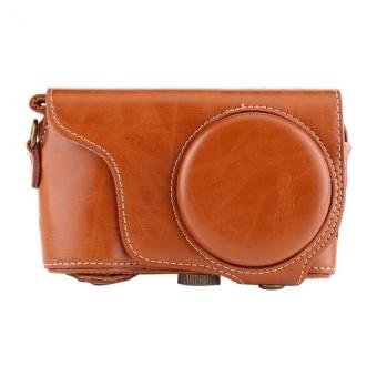 PU Leather Camera Case Bag with Shoulder Strap ForSamsungGC200/GC110/GC100 - intl