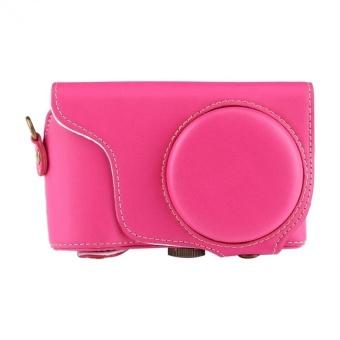 PU Leather Camera Case Bag with Shoulder StrapForSamsungGC200/GC110/GC100 - intl