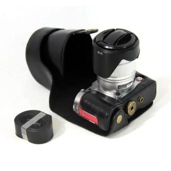 PU Leather Camera Case Cover for Fujifilm X-A3XA316-50/18-55mmLens(Black) - intl