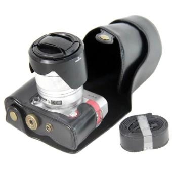 PU Leather Camera Case for Fujifilm X-A3 XA316-50/18-55mmLens(Black) - intl