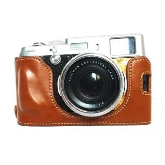 PU Leather Camera Case for FujifilmX100/x100s/x100m/x100t-A(Brown)-Intl - intl
