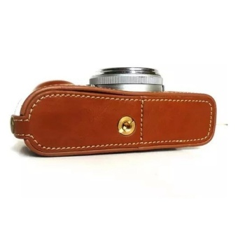 PU Leather Camera Case forFujifilmX100/x100s/x100m/x100t-A(Brown)-Intl - intl