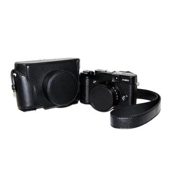 PU Leather Half Camera Case Bag Cover Base forFujifilmX100100SBlack- intl