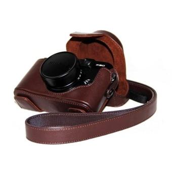 PU Leather Half Camera Case Bag Cover Base forFujifilmX100100SCoffee - intl