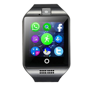 Q18 MTK6261D Smart Watch w/ Built-in Facebook Twitter WhatsApp-Black - intl
