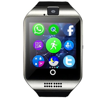 Q18 MTK6261D Smart Watch w/ Built-in Facebook TwitterWhatsApp-Silver - intl