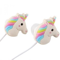 QearFun In Ear Wired 3.5 mm 3D Cute Cartoon Animal Unicorn Earphone/Earbuds/Headphones with Mic Hands-free for Apple,Samsung,HTC,Android Smartphones Mp3