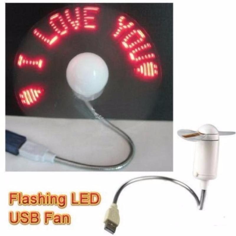 Bảng giá QUẠT ĐÈN LED USB TỰ TẠO CHỮ, THÔNG ĐIỆP  DỄ THƯƠNG Phong Vũ
