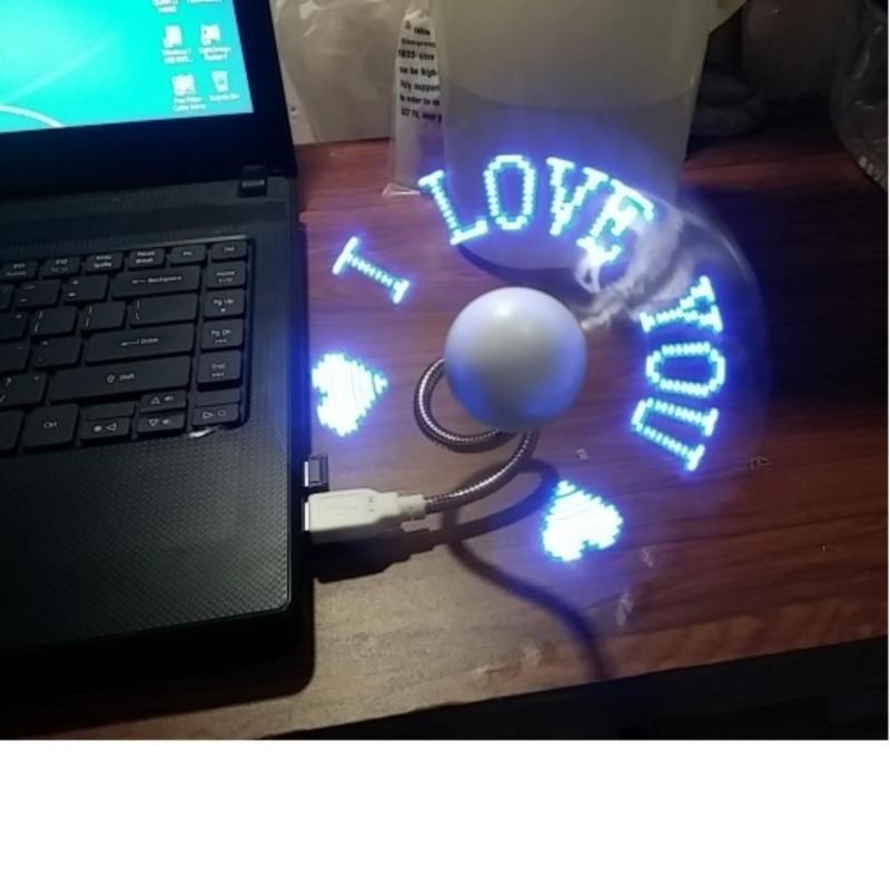 Bảng giá Quạt đèn LED USB tự tạo chữ, thông điệp giá rẻ Phong Vũ