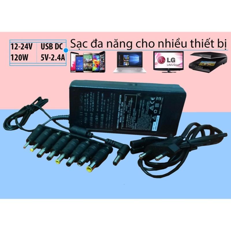 Bảng giá Sạc đa năng Laptop, Smartphone, Máy tính bảng, màn hình LCD, cân điện tử, Modem, PC mini, máy Scan.v.v. SP26 (12V-24V/120W) Phong Vũ