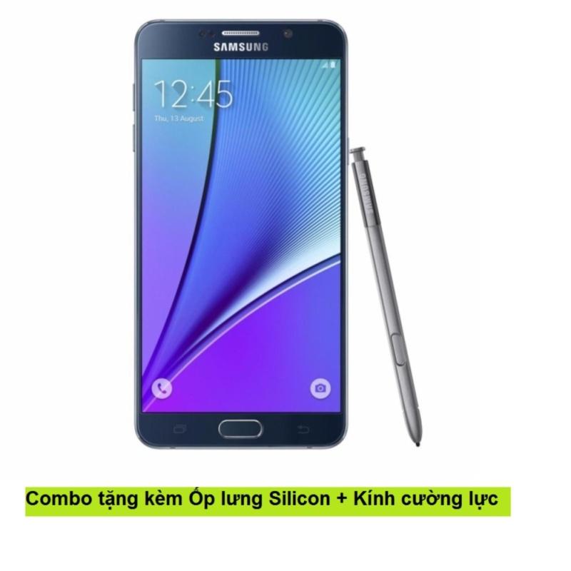 Samsung Galaxy Note 5 32GB (Xanh Đen) + Ốp lưng Silicon + Kính cường lực - Hàng nhập khẩu
