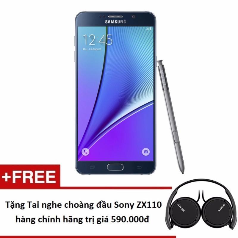 Samsung Galaxy Note 5 N920 32GB (Đen) + Tặng Tai nghe choàng đầu Sony - Hàng nhập khẩu