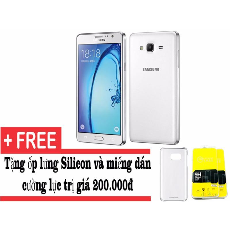 Samsung Galaxy On7 8GB (Trắng) - Hàng nhập khẩu + tặng miếng dán cường lực và ốp lưng