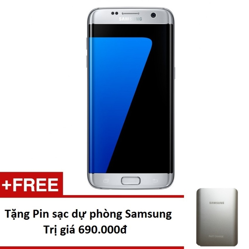 Samsung Galaxy S7 Edge 32Gb G935 (Bạc) - Hàng nhập khẩu + Tặng pin sạc dự phòng 10.000mAh