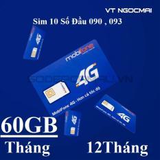 Nơi nào bán Sim 3G 4G 10 Số Mobifone THAGA chỉ 50K có 60GB