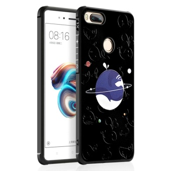 Silicon Debossed Printing Cover Case for Xiao mi Mi 5X - intl