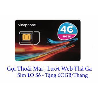 Sim 10 số Vinaphone nghe gọi miễn phí,vào mạng tẹt ga