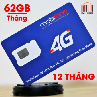 SIM 3G 4G Mobifone Tặng 62GB/Tháng MDT120A