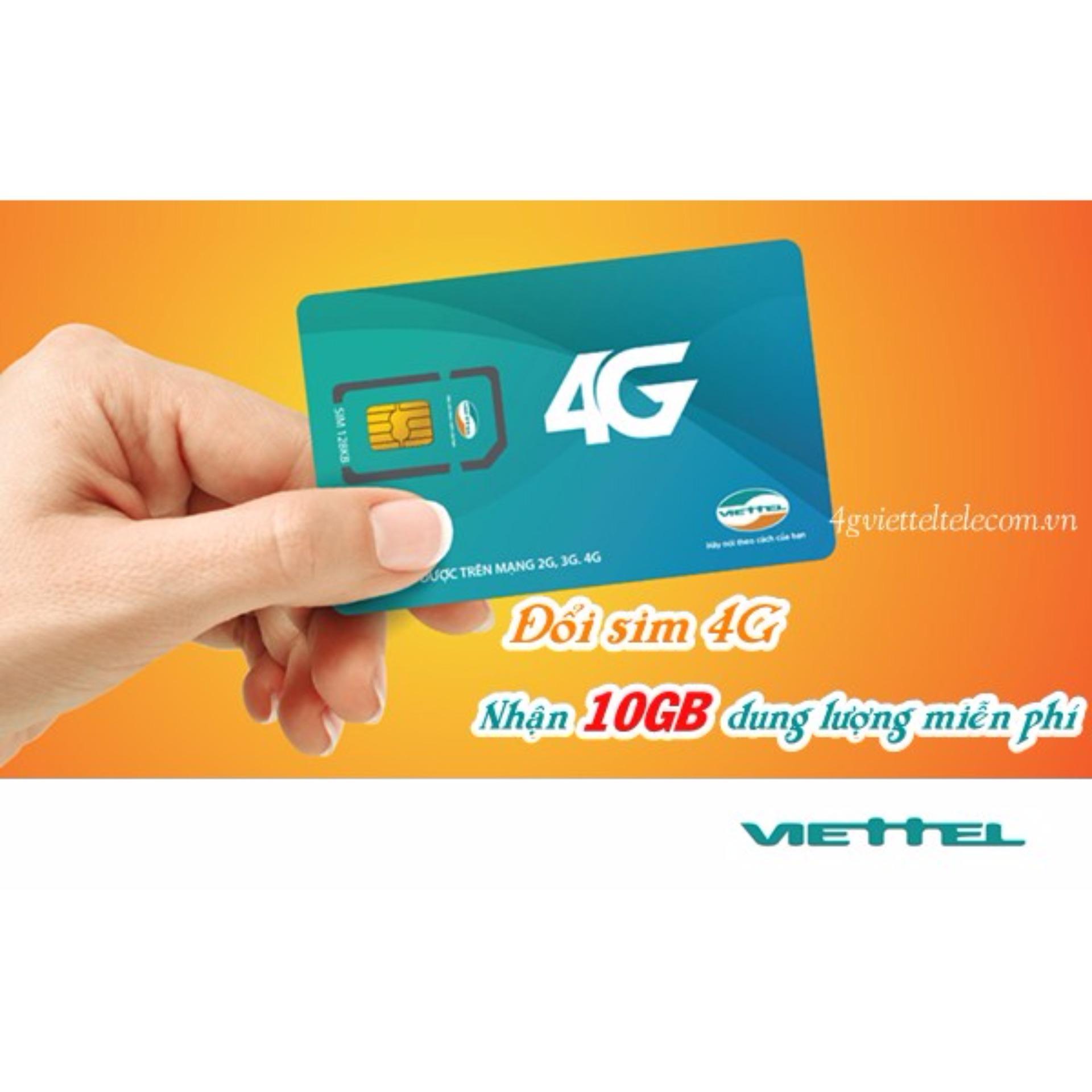 Sim trắng 4G Viettel tự đổi cộng 10k vào tài khoản và 10Gb data