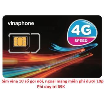 SIM VINA 10 SỐ gọi nội mạng miễn phí và 2.4gb/tháng