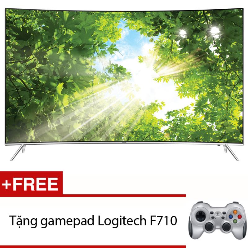 Bảng giá Smart Tivi Curve LED Samsung 65inch 4K – Model UA65KS7500KXXV (Đen) + Tặng gamepad Logitech F710