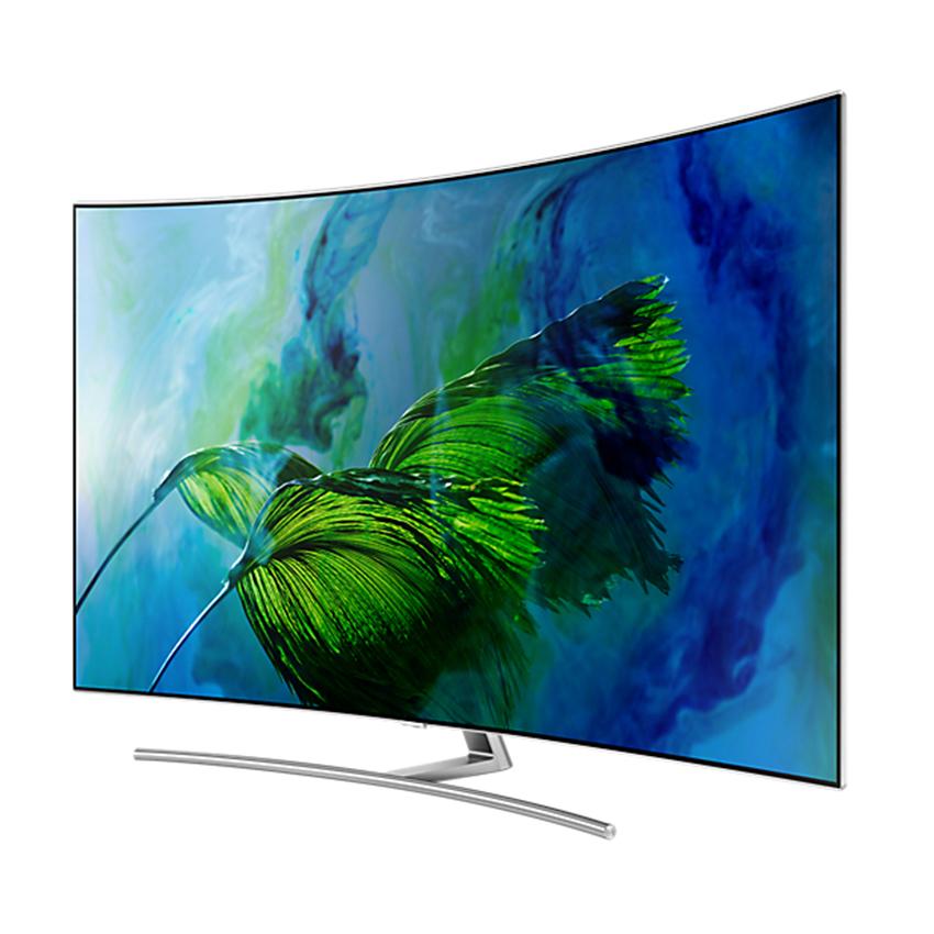 Hình ảnh Smart TV QLED màn hình cong Samsung 65inch 4K – ModelQA65Q8CAMKXXV(Bạc) – Hãng phân phối chính thức + Tặng Loa SoundbarHW-K551