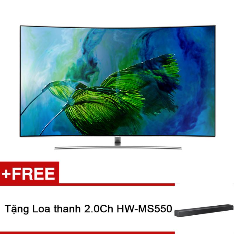 Bảng giá Smart TV QLED màn hình cong Samsung 65inch 4K UHD – Model QA65Q8CAMKXXV (Bạc) – Hãng phân phối chính thức + Tặng Loa thanh 2.0Ch HW-MS550