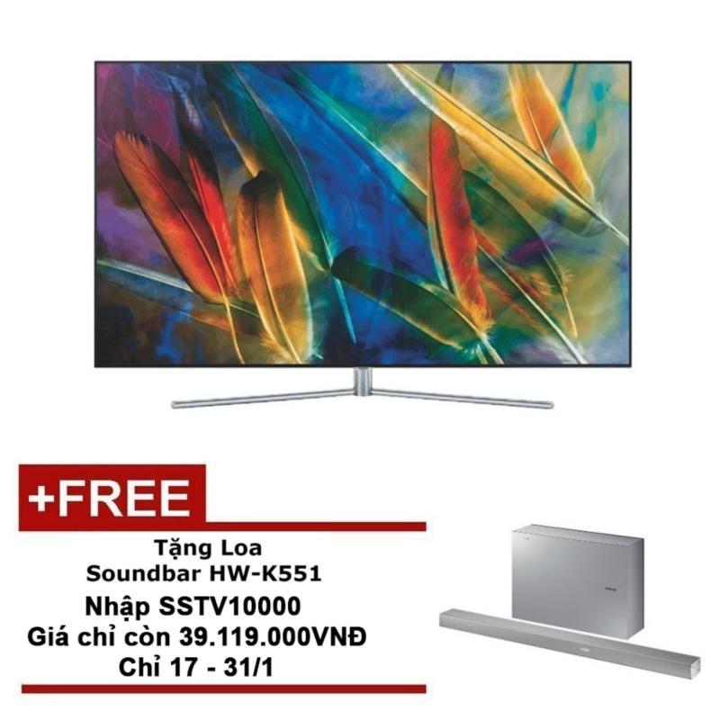 Smart TV QLED Samsung 55inch 4K - Model QA55Q7FAMKXXV (Đen) - Hãng phân phối chính thức + Tặng Loa Soundbar HW-K551 chính hãng