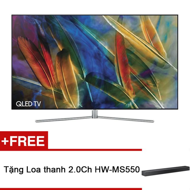 Bảng giá Smart TV QLED Samsung 55inch 4K - Model QA55Q7FAMKXXV (Đen) - Hãng phân phối chính thức + Tặng Loa thanh 2.0Ch HW-MS550