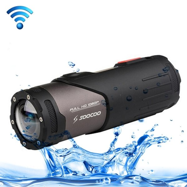 SOOCOO S20WS HD 1080P WiFi Sports Camera, 170 Degrees Wide AngleLens, 15m Waterproof - intl