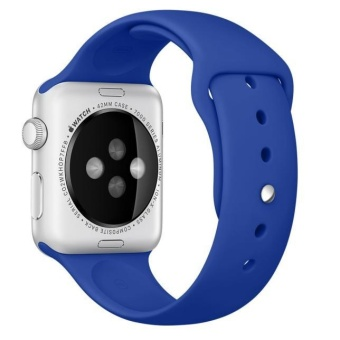 Sports Silicone Bracelet Strap Band For Apple Watch 42mm Blue -intl