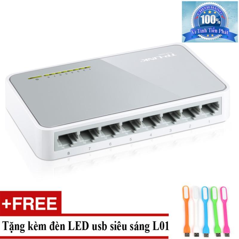 Bảng giá Switch TP-Link TL-SF1008D 8 port + Tặng đèn LED usb mã L01 Phong Vũ